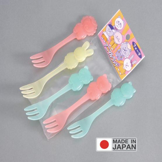 Kohbec ส้อมพลาสติกรูปการ์ตูน (สินค้านำเข้าจากญี่ปุ่น)