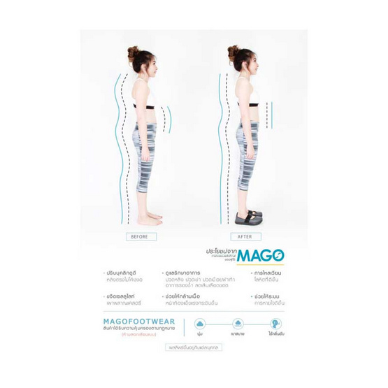 MAGO รุ่น BAMBO สีม่วงพาสเทล รองเท้าสุขภาพ