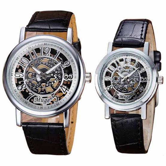Muge นาฬิกาข้อมือ รุ่น MG045-BK/SI