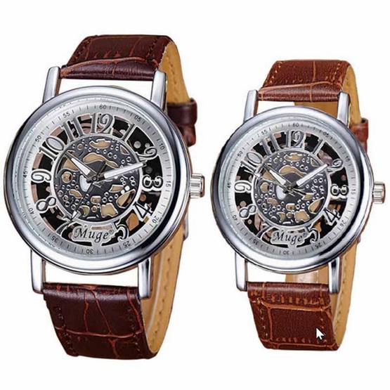 Muge นาฬิกาข้อมือ รุ่น MG045-BR/SI