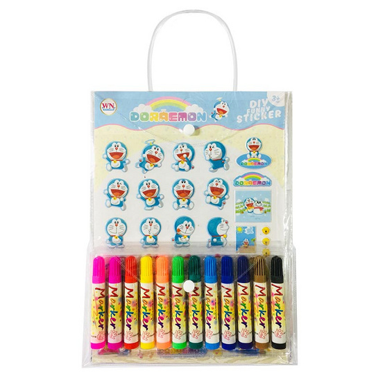 Set กระเป๋า Doraemon + สติ๊กเกอร์โฟม + สีเมจิก