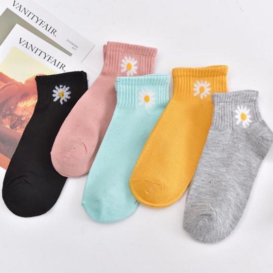 ถุงเท้าแฟชั่น รุ่น เดซี่ 1 แพค มี 10 คู่ 5 สี
