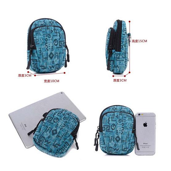 OSAKA รุ่น NK324 กระเป๋าคาดเอว สีฟ้า