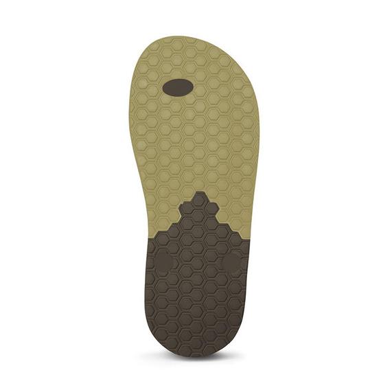 Rubber Soul รองเท้าแตะ รุ่น BALANCE สีเบจ-น้ำตาล
