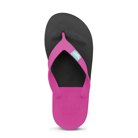 Rubber Soul รองเท้าแตะ รุ่น BALANCE สีดำ-บานเย็น