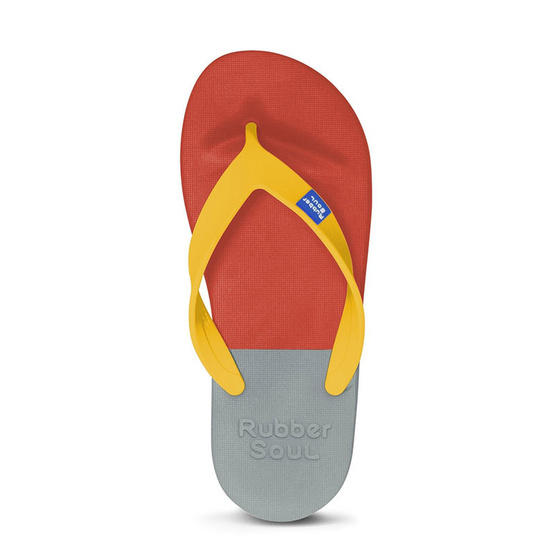 Rubber Soul รองเท้าแตะ รุ่น BALANCE สีแดง-เทา