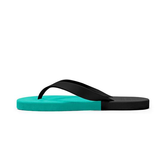 Rubber Soul รองเท้าแตะ รุ่น BALANCE สีทะเล-ดำ