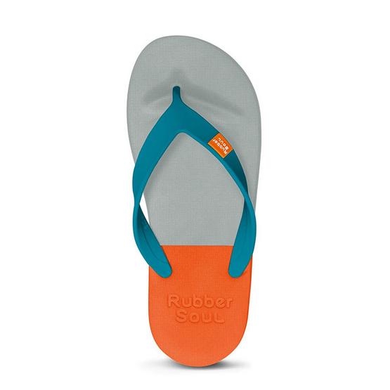 Rubber Soul รองเท้าแตะ รุ่น BALANCE สีเทา-ส้ม