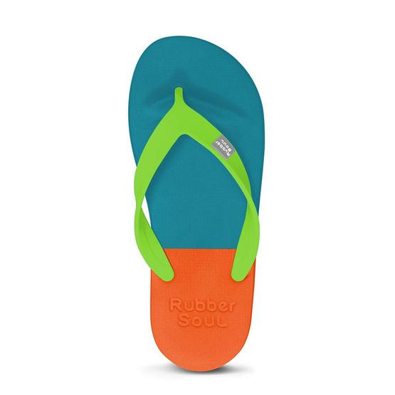 Rubber Soul รองเท้าแตะ รุ่น BALANCE สีน้ำเงินเข้ม-ส้ม
