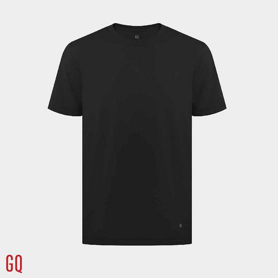 GQ เสื้อยืดสีดำ