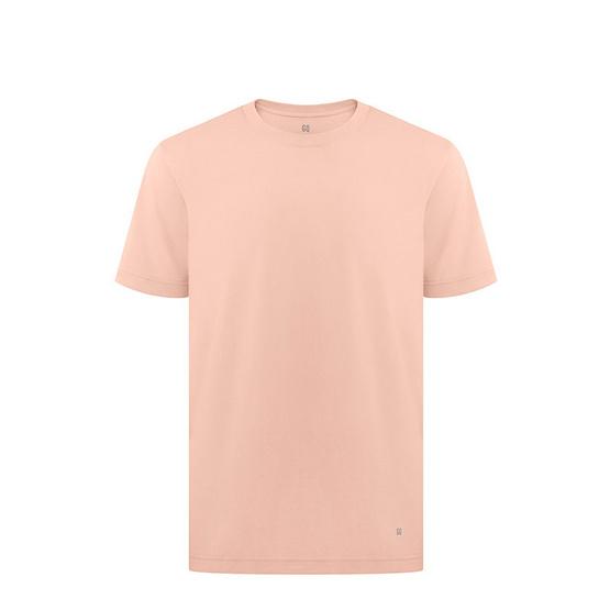 GQ เสื้อยืดสีชมพูนู้ด