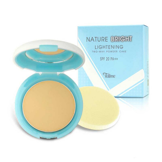 Tellme Nature Bright Lightenning Two-Way Powed Cake SPF20 PA+++ #N7 ทุกสีผิว 10 g