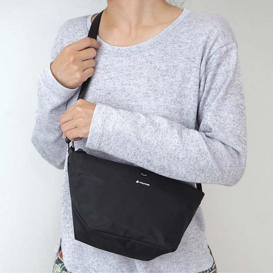 FOUVOR กระเป๋าสะพาย ผู้หญิง รุ่น 2918-01 (สีดำ)