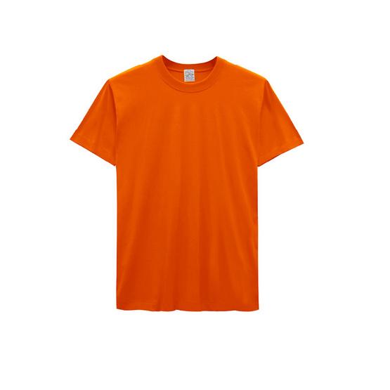 Double Goose ตราห่านคู่ เสื้อคอกลม รุ่นคัลเลอร์ สีส้ม