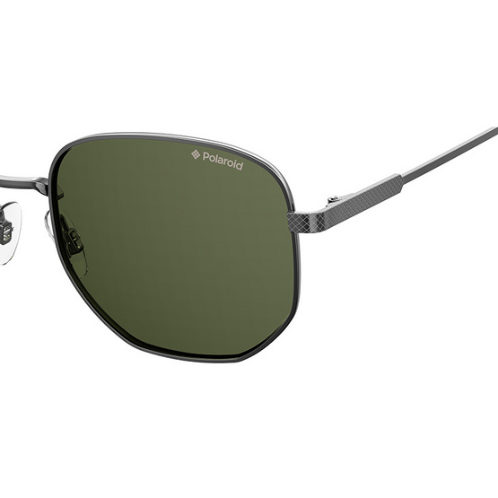 POLAROID แว่นตากันแดด เลนส์สีเขียว ขารมควัน รุ่นPLD2081-KJ1UC (ฟรีแก้วน้ำ แบรนด์ POLAROID)