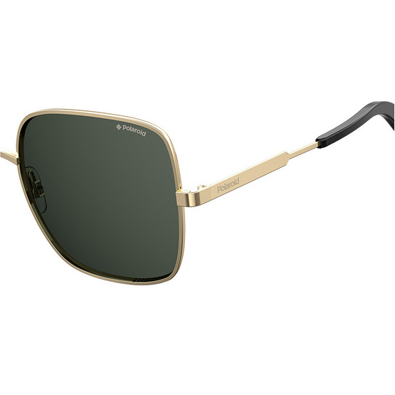 POLAROID แว่นตากันแดด เลนส์สีเทา ขาแว่นสีทอง รุ่นPLD6060-2F7M9 (ฟรีแก้วน้ำ แบรนด์ POLAROID)