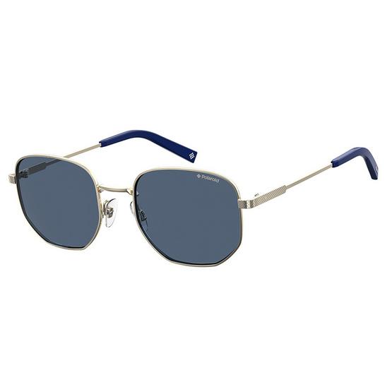 POLAROID แว่นตากันแดด เลนส์สีน้ำเงิน ขาแว่นสีทอง รุ่นPLD2081-3YGC3 (ฟรีแก้วน้ำ แบรนด์ POLAROID)