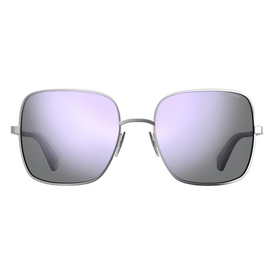 POLAROID แว่นตากันแดด เลนส์ปรอทสีเงิน ขาแว่นสีเงิน รุ่นPLD6060-B6EMF (ฟรีแก้วน้ำ แบรนด์ POLAROID)