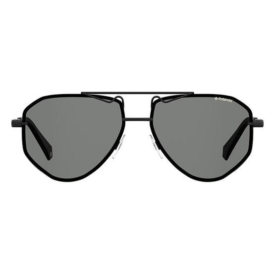 POLAROID แว่นตากันแดด เลนส์สีเทา ขาแว่นสีดำ รุ่นPLD6092-807M9 (ฟรีแก้วน้ำ แบรนด์ POLAROID)