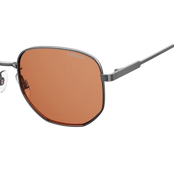 POLAROID แว่นตากันแดด เลนส์สีชา ขาแว่นสีรมควัน รุ่นPLD2081-6LBHE (ฟรีแก้วน้ำ แบรนด์ POLAROID)