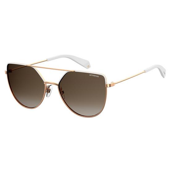 POLAROID แว่นตากันแดด เลนส์สีน้ำตาลชา ขาแว่นสีทอง รุ่นPLD6057-VK6LA (ฟรีแก้วน้ำ แบรนด์ POLAROID)