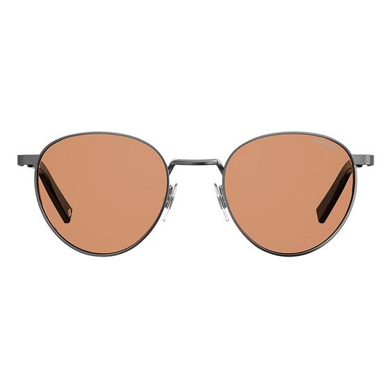 POLAROID แว่นตากันแดด เลนส์เหลือง-ชา ขาแว่นสีรมควัน รุ่นPLD2082-6LBHE (ฟรีแก้วน้ำ แบรนด์ POLAROID)