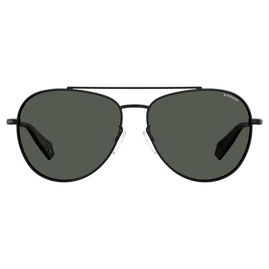 POLAROID แว่นตากันแดด เลนส์สีเทา ขาแว่นสีดำ รุ่นPLD2083-807M9 (ฟรีแก้วน้ำ แบรนด์ POLAROID)