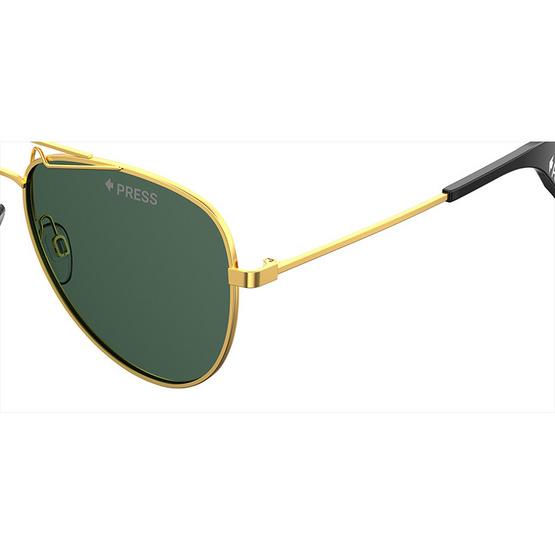 POLAROID แว่นตากันแดด เลนส์สีเขียว ขาแว่นสีทอง รุ่นPLD6048-J5GUC (ฟรีแก้วน้ำ แบรนด์ POLAROID)