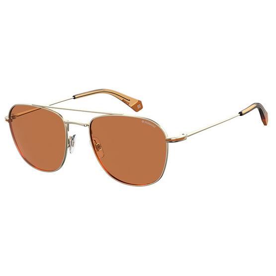 POLAROID แว่นตากันแดด เลนส์สีเหลือง-ชา ขาแว่นสีทอง รุ่นPLD2084-3YGHE (ฟรีแก้วน้ำ แบรนด์ POLAROID)