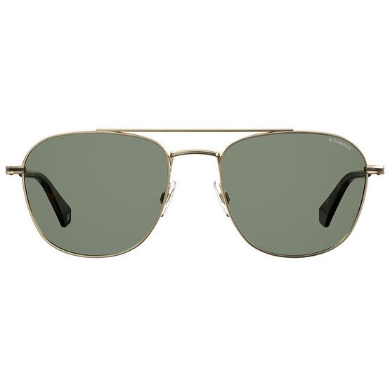 POLAROID แว่นตากันแดด เลนส์สีเขียว ขาแว่นสีทอง รุ่นPLD2084-J5GUC (ฟรีแก้วน้ำ แบรนด์ POLAROID)