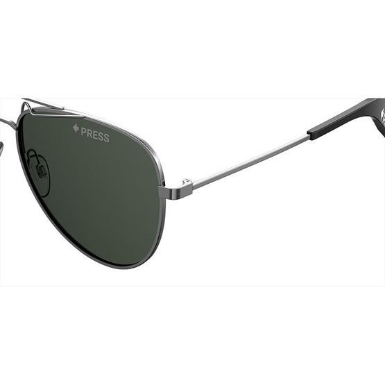 POLAROID แว่นตากันแดด เลนส์สีเขียว ขาแว่นสีเงินตะกั่ว รุ่นPLD6048-KJ1M9 (ฟรีแก้วน้ำ แบรนด์ POLAROID)