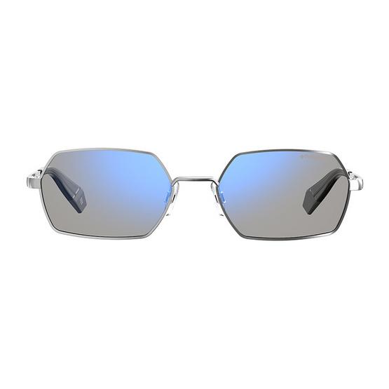 POLAROID แว่นตากันแดด เลนส์สีเงินฟ้า ขาแว่นสีเงิน รุ่นPLD6068-4275X (ฟรีแก้วน้ำ แบรนด์ POLAROID)