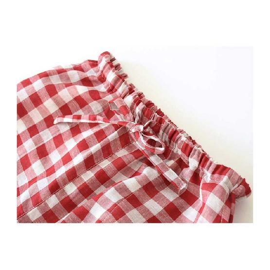 Chiratnatda กางเกงลำลอง cotton ลายสก๊อต