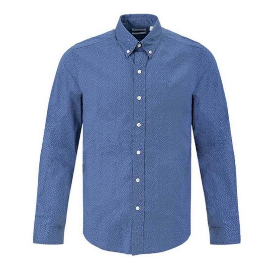 Timberland Long-Sleeve Shirt Blue Floral Printed