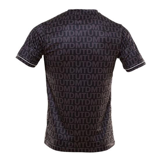 เมืองทอง ยูไนเต็ด เสื้อคอกลมลาย MTUTD สีดำ
