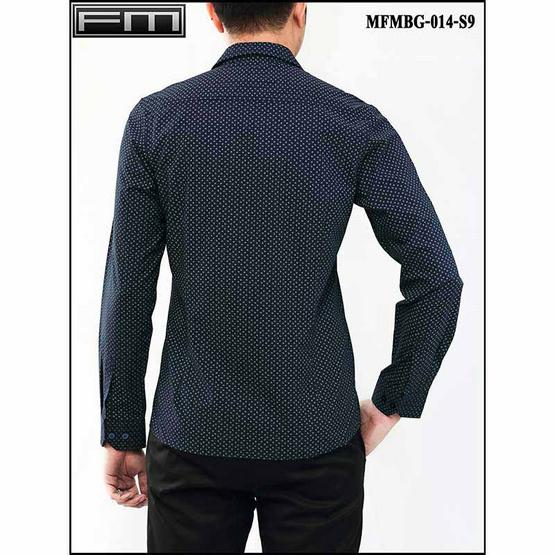 FM เสื้อเชิ้ตแขนยาว (MFMBG-014-S9) สี NAVY