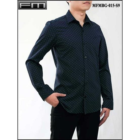 FM เสื้อเชิ้ตแขนยาว (MFMBG-015-S9) สี NAVY
