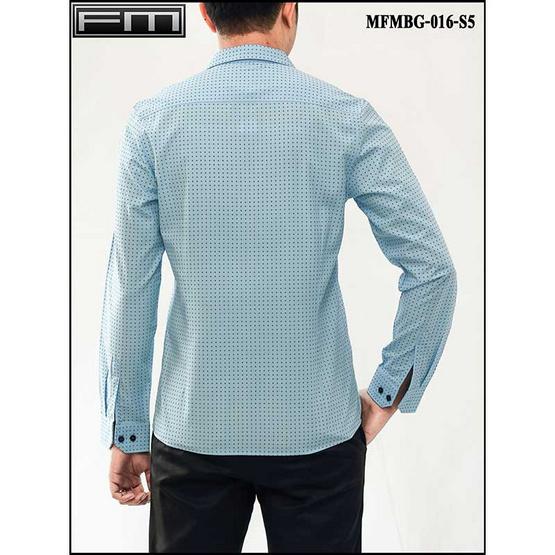 FM เสื้อเชิ้ตแขนยาว (MFMBG-016-S5) สี BLUE