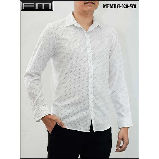 FM เสื้อเชิ้ตแขนยาว (MFMBG-020-W0) สี WHITE