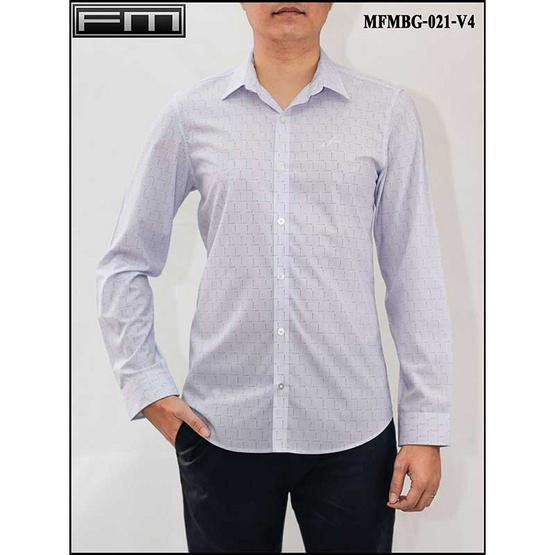 FM เสื้อเชิ้ตแขนยาว (MFMBG-021-V4) สี BLUE