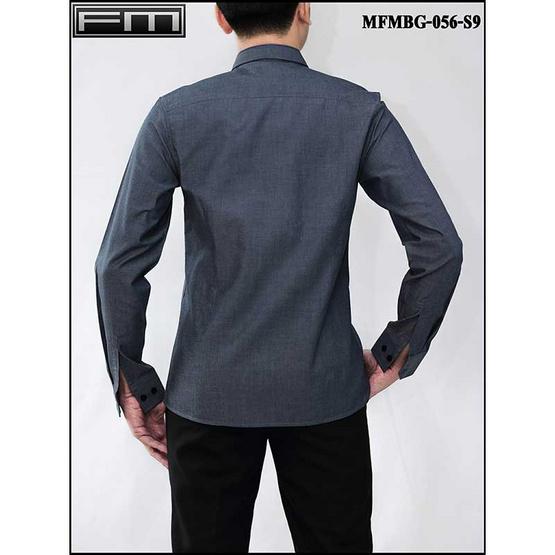 FM เสื้อเชิ้ตแขนยาว (MFMBG-056-S9) สี NAVY
