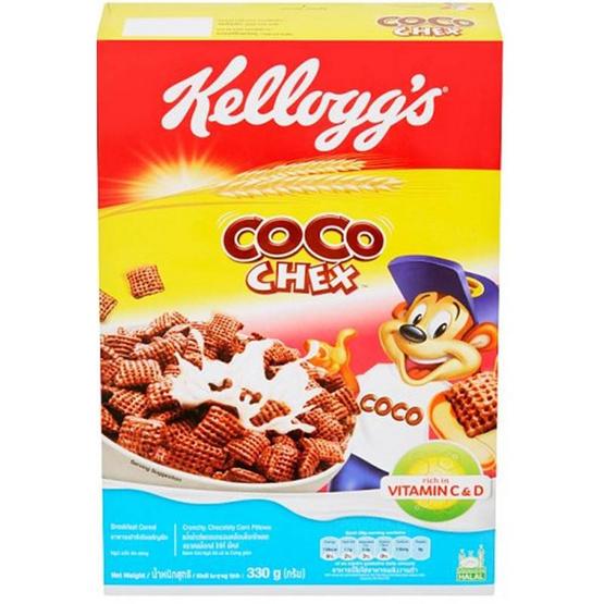 อาหารเช้าเคลล็อกส์ โกโก้ เช็กส์ 330 กรัม