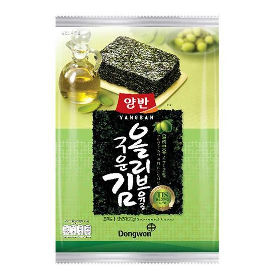 ยังบัน สาหร่ายปรุงรสน้ำมันมะกอกแผ่นใหญ่ 20 กรัม