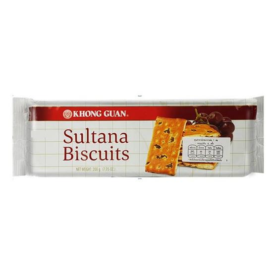 ซัลตานาขนมปังกรอบผสมลูกเกด 200 กรัม