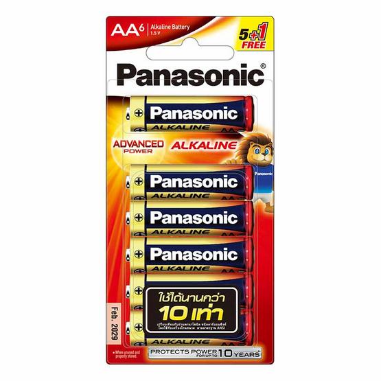 พานาโซนิค ถ่านอัลคาไลน์ AA แพ็ก 5 แถม 1 ก้อน