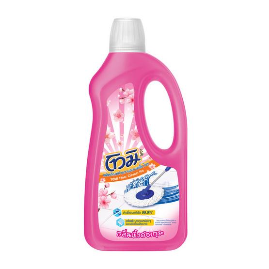โทมิ น้ำยาทำความสะอาดพื้น กลิ่นพิ้งค์ซากุระ สีชมพู 850 มล.