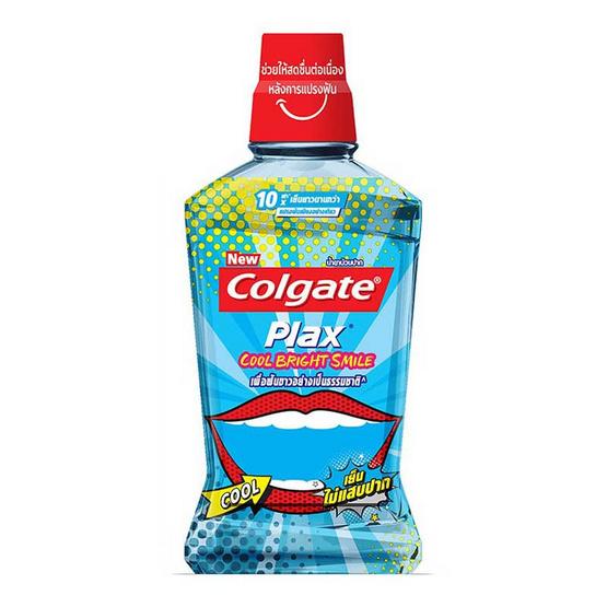 คอลเกต น้ำยาบ้วนปากพลักซ์ คูลไบร์สมายล์ 500 มล.