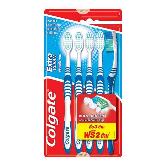 คอลเกต แปรงสีฟัน เอ็กซ์ตร้าคลีน (แพ็ก 5 ด้าม)