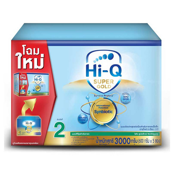 Hi-Q ซุปเปอร์โกลด์ นมผงสูตร2 3000 กรัม