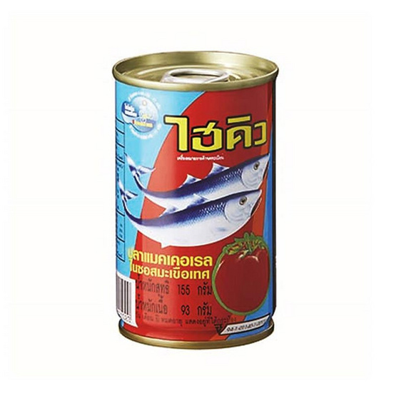 ไฮคิว ปลาแมคเคอเรลในซอสมะเขือเทศ 155 กรัม